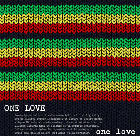 One Love jumper background Vector