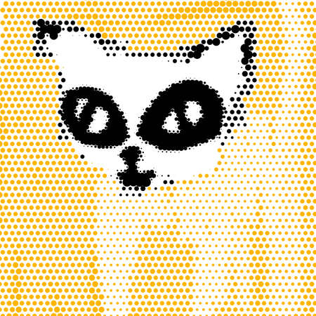 Yellow cat illustration Vector