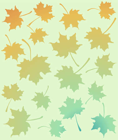 Autumn leaves pattern Stock Vector - 11309043