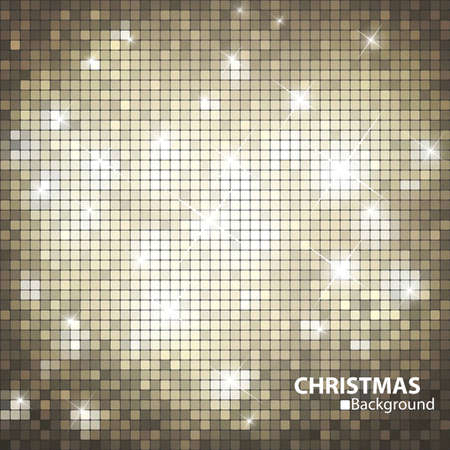 xmas background: Gold mosaic banner format
