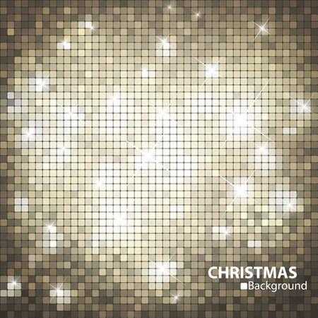 glitters: Gold mosaic banner format