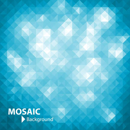 Mosaic banner with space  Vector