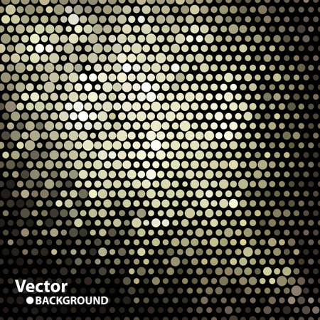 Golden mosaic banner with space for Your text, vector eps8 format Illustration