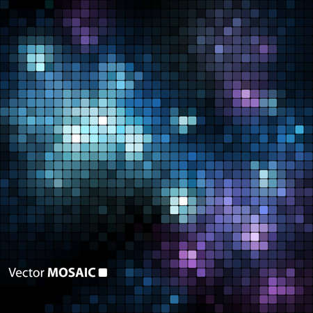Shiny Mosaic banner with space  Vector