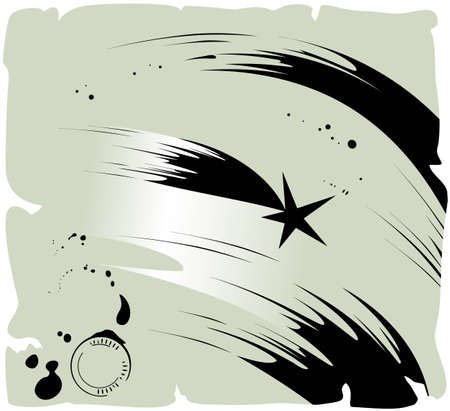 Shooting star illustration Vector