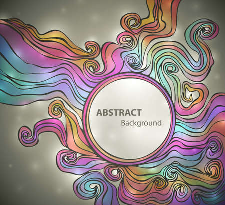 Colorful banner with space for Your text, vector eps10 illustration Vector