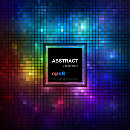 Colorful mosaic background with space for your text. Illustration