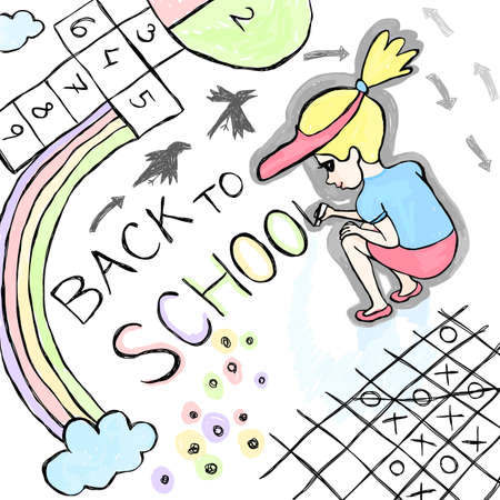 Back to school, doodle vector illustration Stock Vector - 12493756