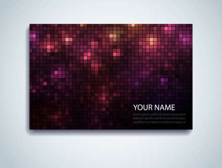Shiny mosaic business card with space for Your text Vector
