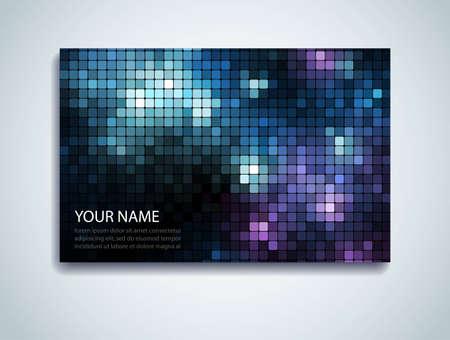 Shiny mosaic business card  Vector
