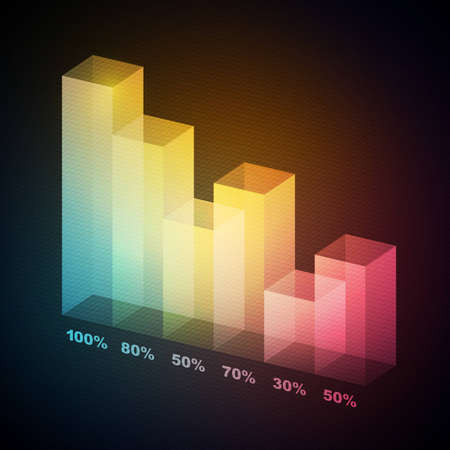 Colorful 3D statistics template Vector