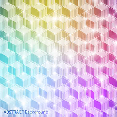 Colorful geometric banner with space for Your text Vector