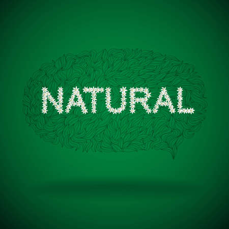 Natural product label, Vector