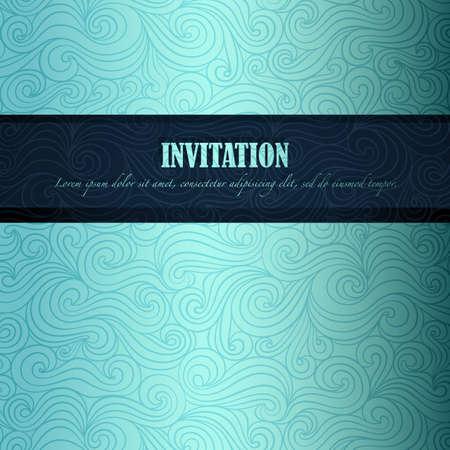 Summer invitation made of fancy paper Vector