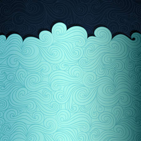 Smmer sea banner made of fancy paper, vector eps8 illustration
