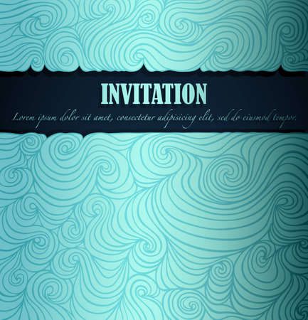 Summer invitation made of fancy paper, vector eps8 illustration