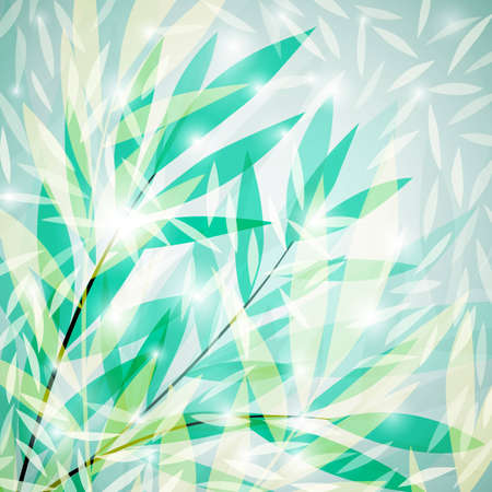 Green leaf glowing background, vector eps10 Vector