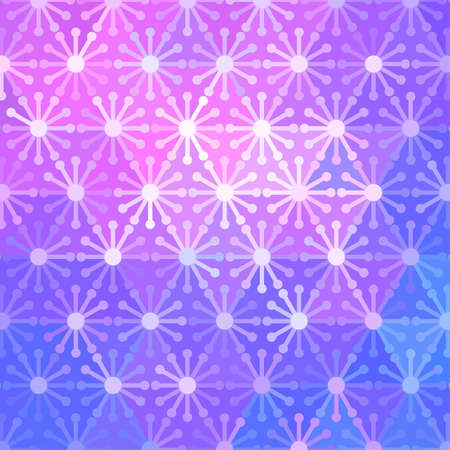 computergraphics: Abstract background made of mosaic flower pattern Illustration