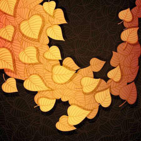 Autumn leaves banner made of fancy paper Stock Vector - 16607644