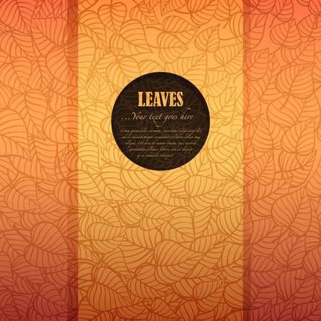 hojas parra: Hojas de otoño bandera hecha de papel de lujo con el espacio para su texto