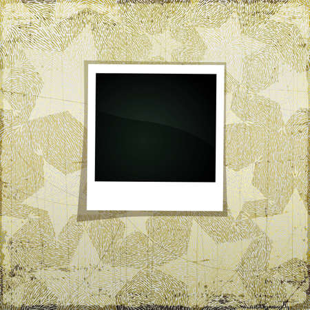 Christmas grunge scrapbook banner with empty photo frame for Your picture Vector