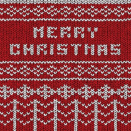 Christmas sweater background, vector eps10 illustration Stock Vector - 18278729