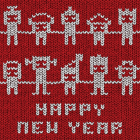 Happy New Year sweater background, vector eps10 illustration Vector