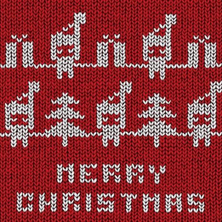 Christmas sweater background, vector eps10 illustration Stock Vector - 18278825
