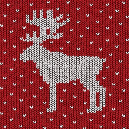 Christmas sweater background, vector eps10 illustration Stock Vector - 18278823