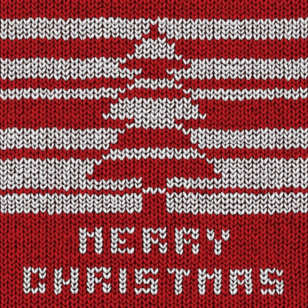 Christmas sweater background, vector eps10 illustration Stock Vector - 18278842