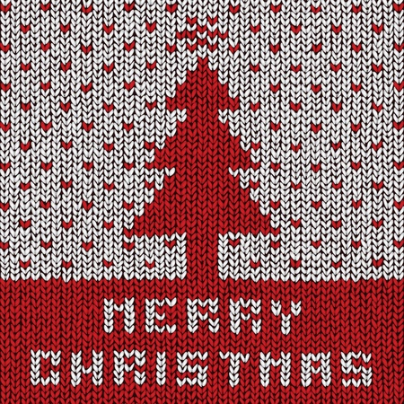 Christmas sweater background, vector eps10 illustration Stock Vector - 18278732