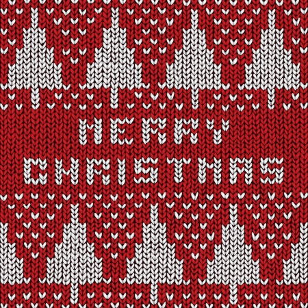 Christmas sweater background, vector eps10 illustration