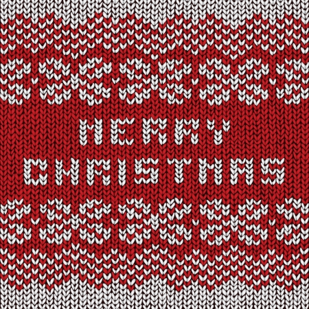 Christmas sweater background, vector eps10 illustration Stock Vector - 18278834