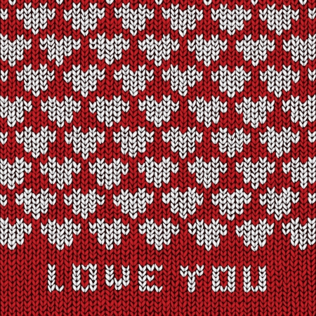 Love You sweater, vector eps10 illustration Vector