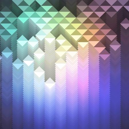 Colorful geometric mosaic pattern illustration Illustration