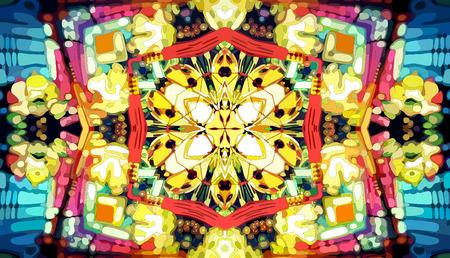 secession: Kaleidoscope mosaic background Illustration