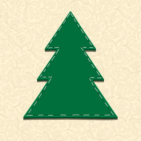 needlecraft: Needlecraft Christmas Tree, vector eps10 illustration