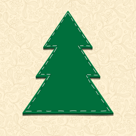 bage: Needlecraft Christmas Tree, vector eps10 illustration