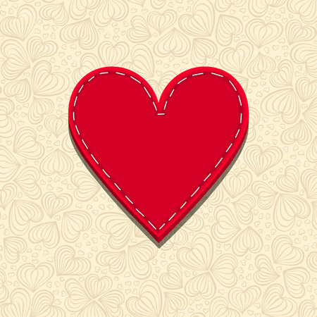needlecraft: Needlecraft Heart, vector eps10 illustration