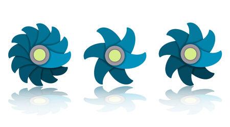 Flower Icon Set, vector eps10 illustration Vector