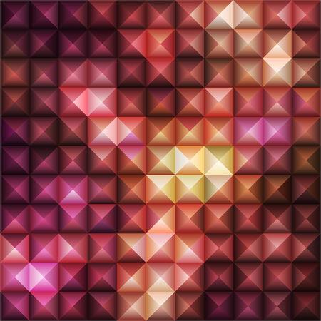 cuboid: Red Geometric Pattern, vector eps10 illustration Illustration