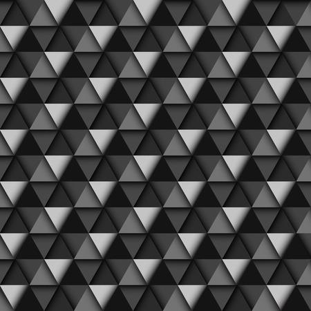 cuboid: Black and White Geometric Pattern, vector eps10 illustration