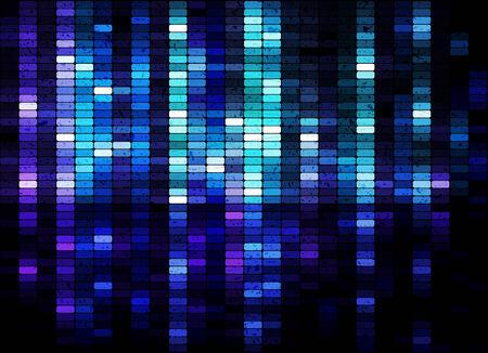 equaliser: Grunge shiny mosaic background illustration Illustration