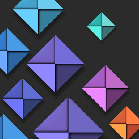 folded paper: Colorful Folded Paper Background Illustration