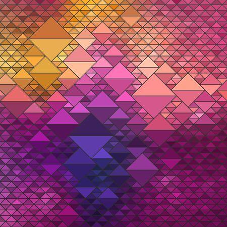 ashlar: Colorful Geometric Background, vector eps10 illustration Illustration