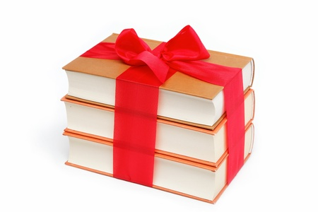 A stack of books on a white background  Stock Photo