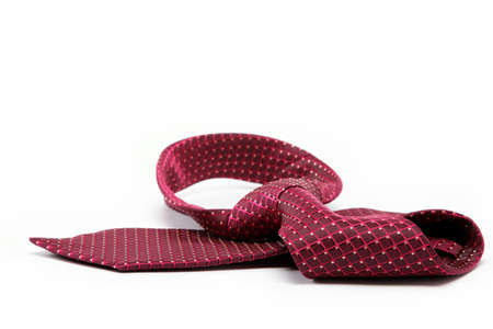 Luxury tie on white background