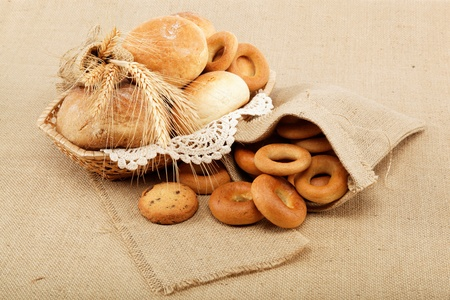 Fresh breads for a variety of sacking  photo
