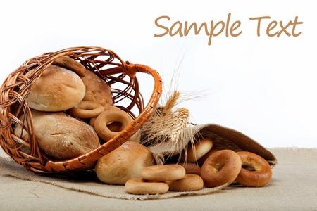 canasta de panes: Panes frescos para una variedad de despido.