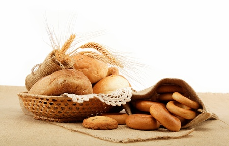 Fresh breads for a variety of sacking Stock Photo - 15021005